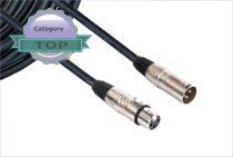 Készkábel GY-PXX1 PROFI átkötőkábel XLR-XLR 1m