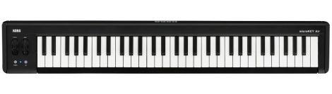 KORG MICROKEY2-61AIR,microKEY MkII USB-MIDI keyboard, 61 Natural Touch mini billentyű, tartozék softsynth csomag, Bluetooth működés elemről, lábkapcsoló aljzat
