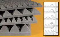 Csillapítószivacs NDA Akustik stop Piramis 70/100   1x1m