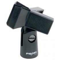Mikrofon kengyel, csiptetős, PROEL APM30, fekete, ABS, d: min - max: 20 - 32 mm