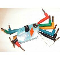 PROEL BULK500LU015 Hangszerkábel, 0,15 m 6 különböző szín, 2x6.3 mm mono pipa jack dugó, öntött