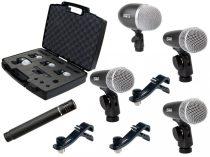 PROEL DMH5XL, Dobmikrofon szett, nyolc darab mikrofon tartóval: 1xDM12, 3xDM1, 1xCM602, 3xAPM47, hordozó táska