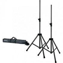 Hangfal állvány pár hordtáskában PROEL SPSK300KIT, 2 db SPSK300BK, fekete, fém-műanyag, m:1460-2060 mm, d:35 mm, terhelés max: 60 kg