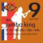 Rotosound akusztikus gitár húrkészlet, foszfor-bronz, 9 13 18 26 38 48