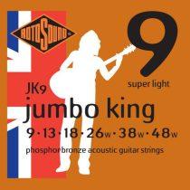Rotosound JK9 akusztikus gitár húrkészlet, foszfor-bronz, 9 13 18 26 38 48