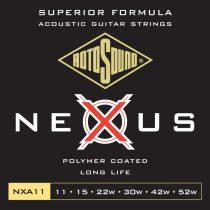 Rotosound NEXUS NXA11 Akusztikus gitár húrkészlet, foszfor-bronz, polimer bevonat, 11 15 22 30 42 52