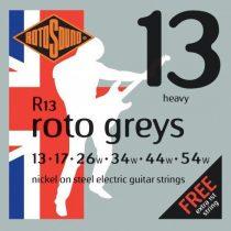 Rotosound nikkel elektromos gitár húrkészlet, heavy, 13 17 26 34 44 54