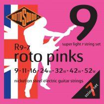 Nikkel 7 húros elektromos gitár húrkészlet, szuper könnyű, 9 11 16 24 32 42 52