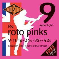 Rotosound nikkel elektromos gitár húrkészlet, extra könnyű, 9 11 16 24 32 42