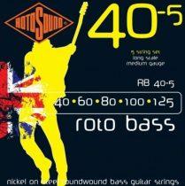 Rotosound basszusgitár húrkészlet, nikkel, 5 húr, 40 60 80 100 125