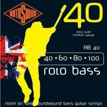 Rotosound basszusgitár húrkészlet, nikkel, 40 60 80 100