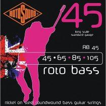 Rotosound basszusgitár húrkészlet, nikkel, 45 65 85 105