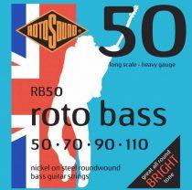 Rotosound RB50 basszusgitár húrkészlet, nikkel, 50 70 90 110