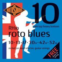 Rotosound Nikkel elektromos gitár húrkészlet, LTHB, 10 13 17 30 42 52