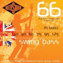 Rotosound RS666LC Basszusgitár húrkészlet, rozsdamentes acél, 6 húr, 30 40 60 75 95 125