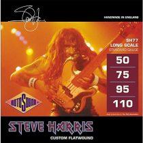 Rotosound basszusgitár húrkészlet, Monel, köszörült, Steve Harris, 50-75-95-110