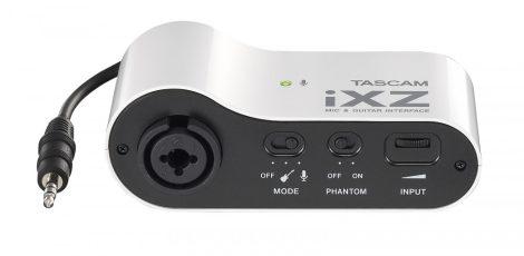 Tascam iXZ, Mikrofon/gitár előfok iPod/iPhone/iPad-hez, kapcsolható fantomtáp, gain szabályzási lehetőség