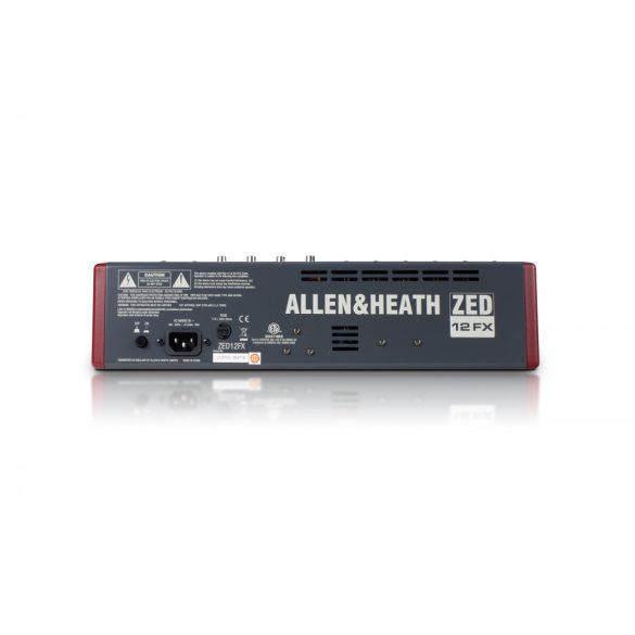 Allen&Heath ZED12FX Kompakt keverőpult USB csatlakozással, beépített effektprocesszorral