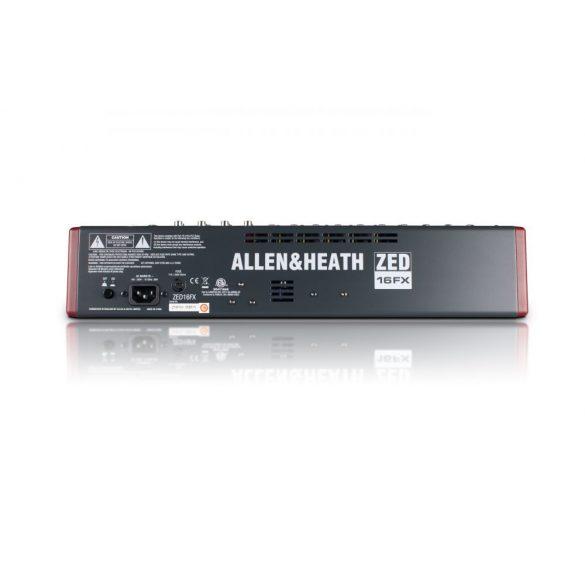 Allen&Heath ZED16FX Kompakt keverőpult USB csatlakozással, beépített effektprocesszorral