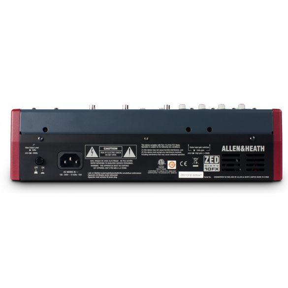 Allen&Heath ZED6010FX Kompakt keverőpult USB csatlakozással, beépített effektprocesszorral