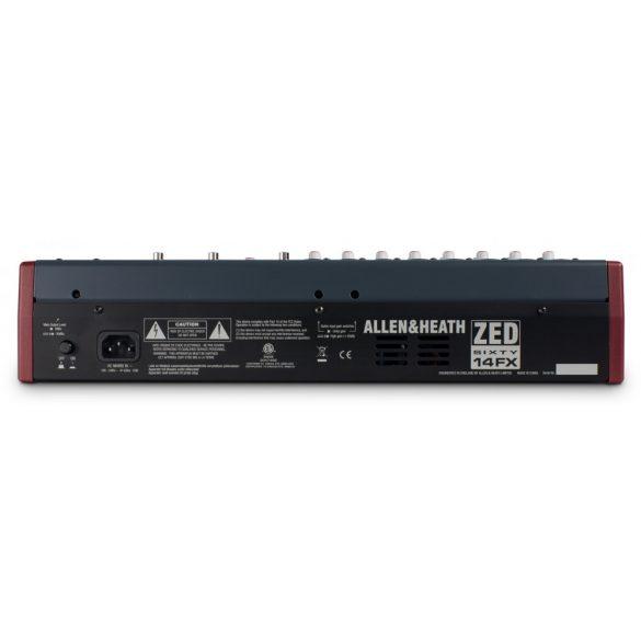 Allen&Heath ZED6014FX Kompakt keverőpult USB csatlakozással, beépített effektprocesszorral