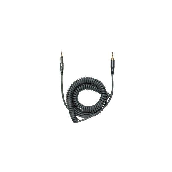Audio-Technica ATH-M40X/M50X/M70X - Fekete spirál kábel 1.2 - 3m