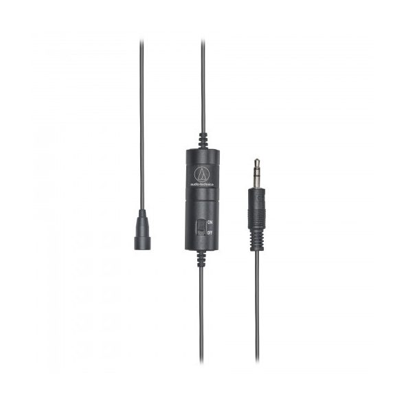 Audio-Technica ATR3350X, kondenzátor klipsz mikrofon 3m kábellel