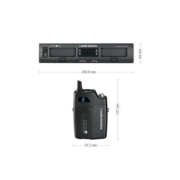 Audio-Technica ATW1301 System 10 PRO egycsatornás digitális zsebadós készlet, mikrofon nélkül