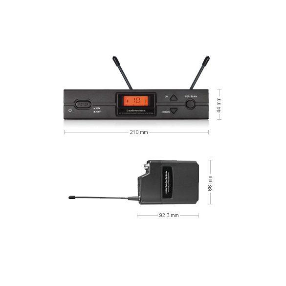 Audio-Technica ATW-2110B, 2000 SERIES zsebadós vezetéknélküli készlet, D-sáv