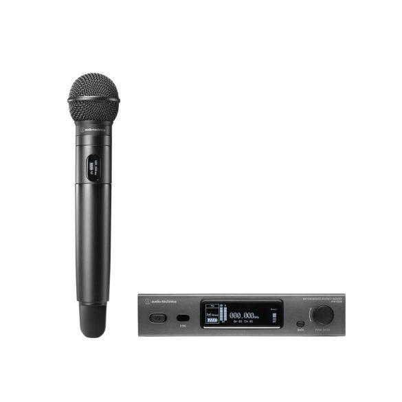 Audio-Technica ATW3212, 3000 szériás UHF True Diversity vezetéknélküli készlet kéziadóval, C510 kapszulával, DE2 sáv