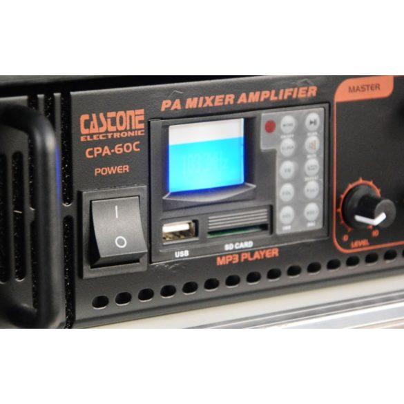 Castone CPA-250C 250W-os 100V-os keverő erősítő MP3 lejátszóval, rádió tunerrel,Bluetooth