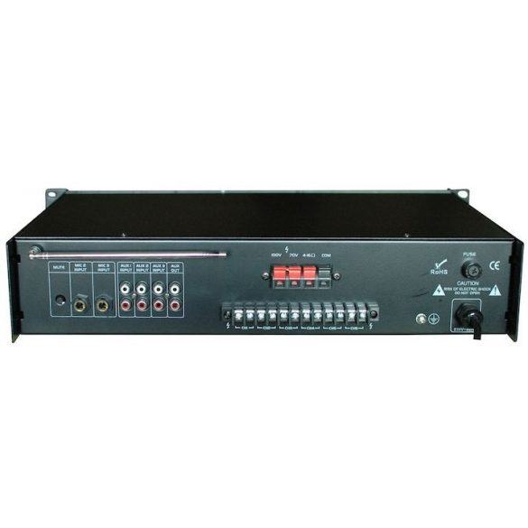 Castone CPA-60C 60W-os 100V-os keverő erősítő MP3 lejátszóval, rádió tunerrel