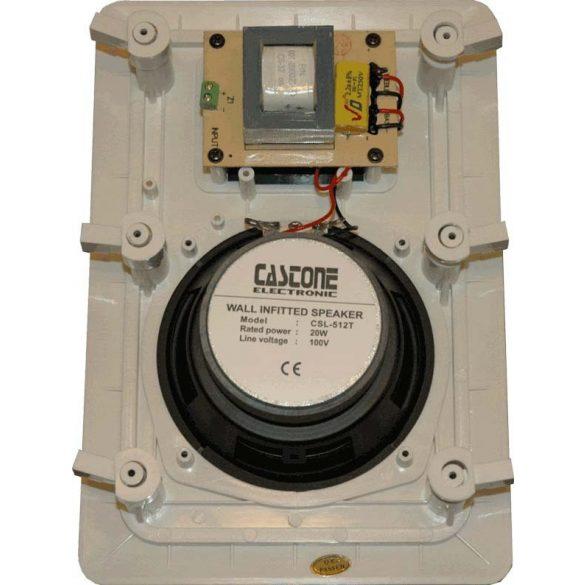 Castone CSL-512T beltéri, álmenyezeti, téglalap alakú, 2 utas hangszóró