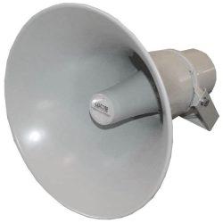 Castone HS-50 25/50 W, kültéri és beltéri információs célú felhasználásra ajánlott 100V-os, világos szürkeszínű tölcsérsugárzó.