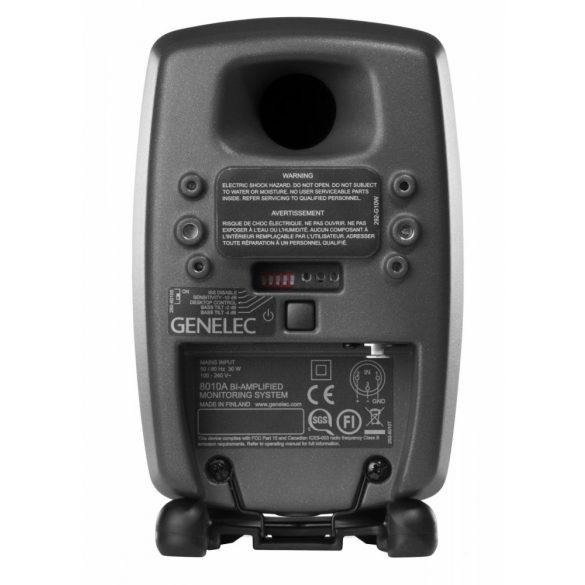GENELEC 8010APM, kompakt, kétutas aktív közeltéri monitor, fekete