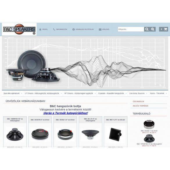 B&C  hangszórók nagy választékban - http://www.bcspeakers.hu/
