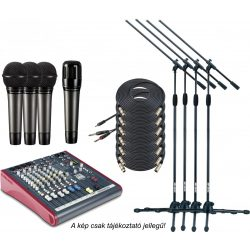 MIDIMIX keverő, mikrofon szett közepes hangosítási feladathoz