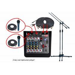 MINIMIX keverő, mikrofon szett kis hangosítási feladathoz