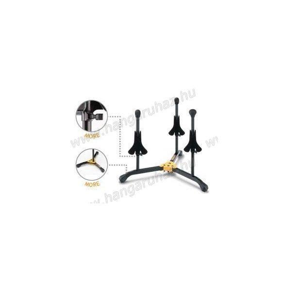 HERCULES DS513BB Fúvós hangszerállvány, 3 hangszer részére