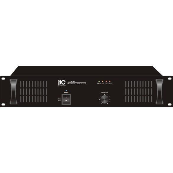 ITC T1S240  Végerősítő egy csatorna 240W/100V/70V/4ohm, transzformátoros leválasztás