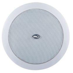"""ITC T208A 8""""+1,5"""" álmennyezeti hangszóró 3.75W, 7.5W, 15W, 30W/100V fém rács, ABS keret"""