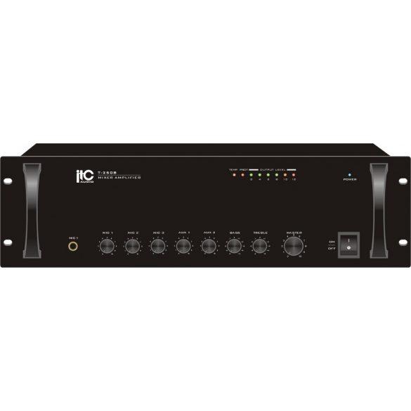 ITC T550B Keverőerősítő 3 mic 2 aux, 100V/70V/4ohm 550W, szimmetrikus mikrofonbemenet