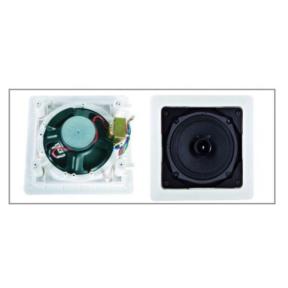 ITC T582 8″ szélessávú álmennyezeti hangszóró 1.87-3.75-7.5-15W/100V négyzetes ABS keret