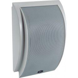 """ITC T612 Kétutas Fali hangdoboz, 2.5W-5W-10W, 100V, 6""""+1"""", ABS, fehér íves előlap, fém rács"""