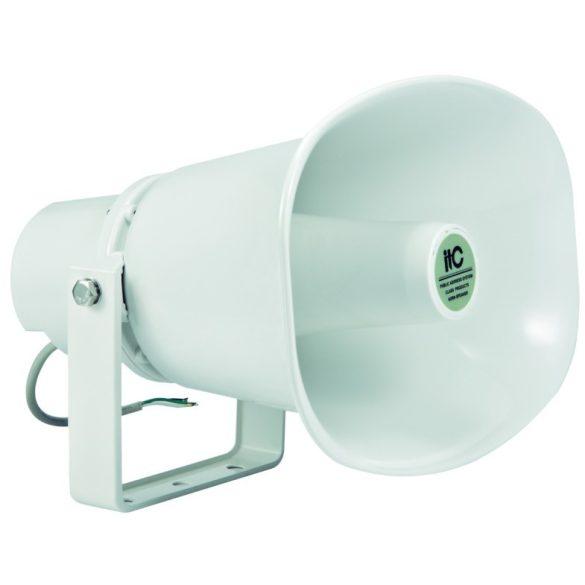 ITC T720A Kültéri nyomókamrás hangtölcsér, 15W-30W, 100V, IP66, ABS ház, Fém konzol