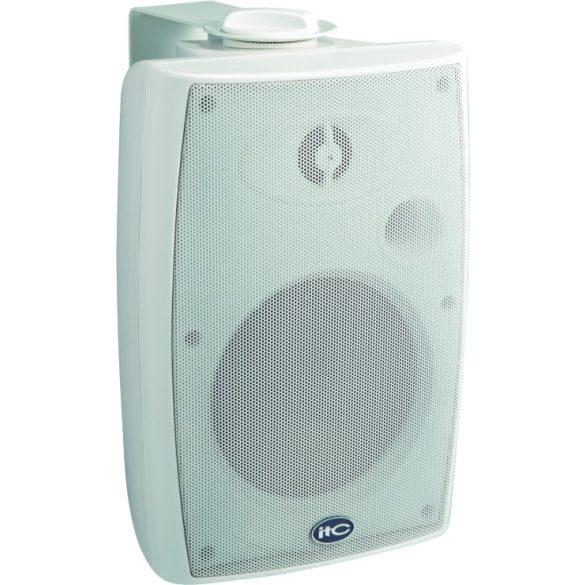 """ITC T776HW 6""""+1,5"""" kétutas fali hangdoboz 5W, 10W, 20W, 40W/100V/8ohm ABS ház, fém rács fehér színben"""