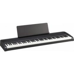 KORG B2 fekete digitális zongora, 88 billentyű, kalapácsmechanika, USB midi és audio, fekete