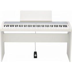KORG B2SP fehér digitális zongora, 88 billentyű, kalapácsmechanika, 3 pedál, USB midi és audio tartozék láb, fehér