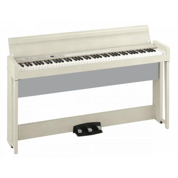 KORG C1Air digitális zongora, 88 RH3 billentyűzet, Bluetooth hanglejátszás, 3 pedál, fehér
