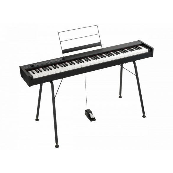 KORG D1BL fekete digitális zongora, 88 billentyű, RH3 kalapácsmechanika